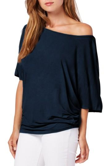 Michael Stars Boatneck Dolman Sleeve Jersey Top In Nocturnal