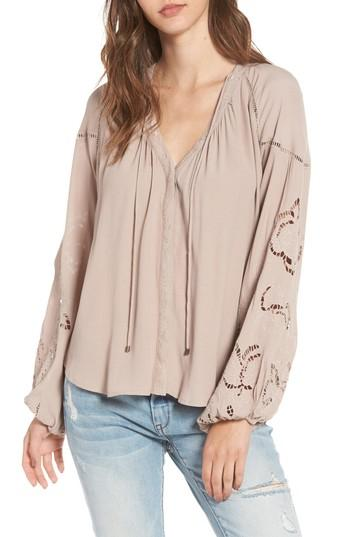 Astr Jennie Blouse In Faded Mauve