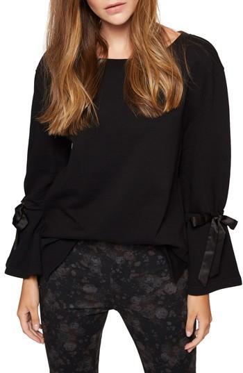 Sanctuary Lucca Layered-look Hooded Sweatshirt - 100% Exclusive In Black