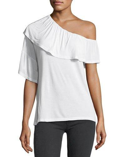 Paige Pax One-shoulder Top In Optic White