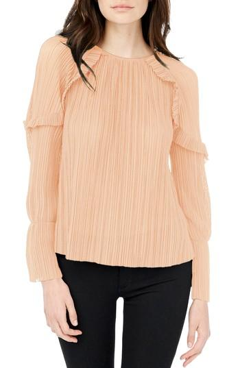 Michael Stars Bell Sleeve Top In Blush