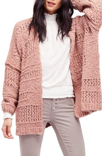 Free People Saturday Morning Cardigan In Pink