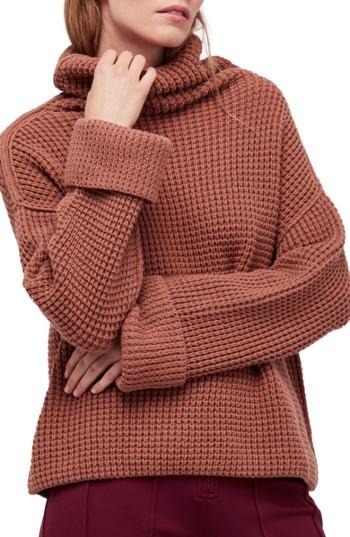Free People Park City Pullover In Terracotta