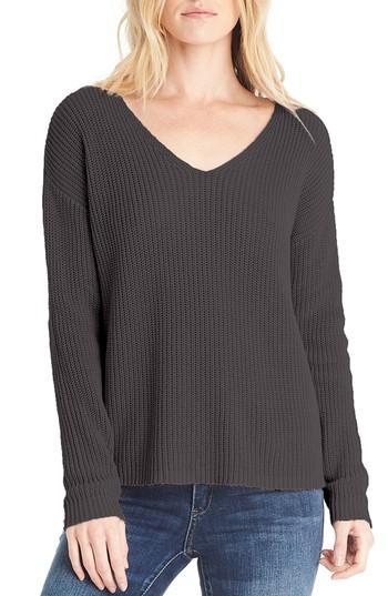 Michael Stars V-neck Sweater In Black