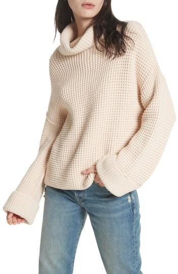 Free People Park City Pullover In Ivory