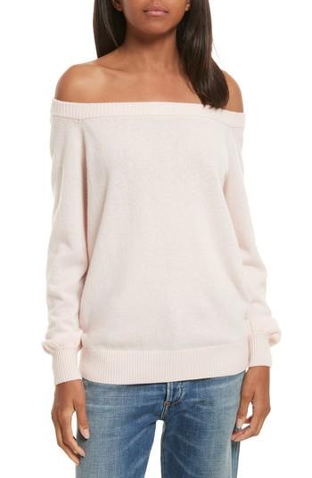 Rebecca Minkoff Shelby Merino Blend Sweater In Soft Pink
