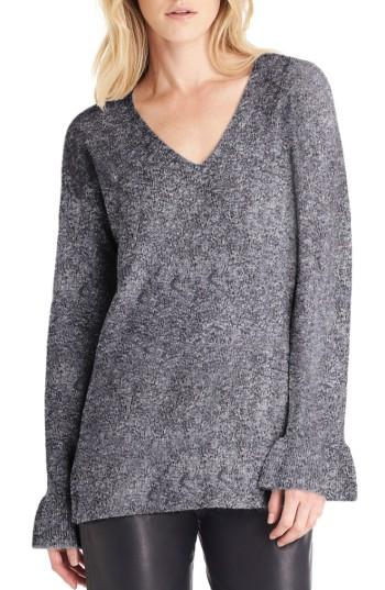Michael Stars Bell Sleeve Sweater In Nocturnal