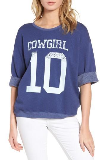 Wildfox Cowgirl Sweatshirt In Cowboy Blue