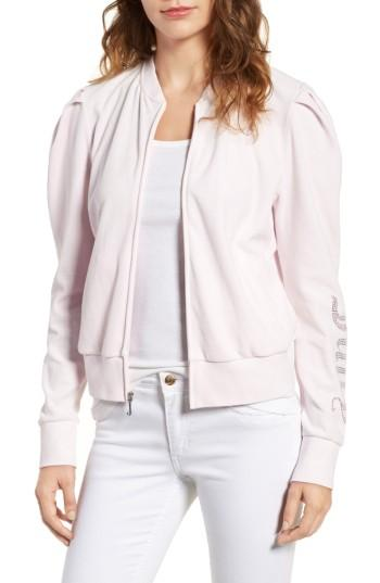 Juicy Couture Puff Sleeve Velour Track Jacket In Peek-a-boo