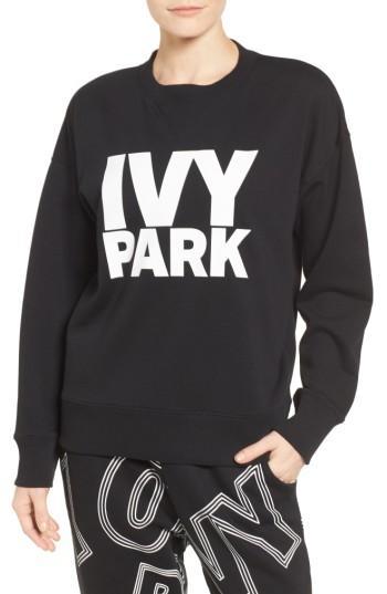 Ivy Park Logo Sweatshirt In Black