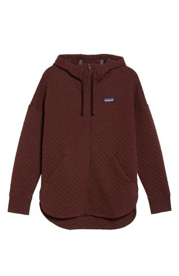 Patagonia Zip Hoodie In Dark Ruby