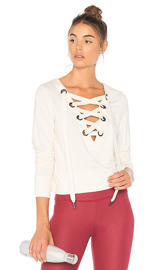 Alo Yoga Ideal Long Sleeve Top In Pristine