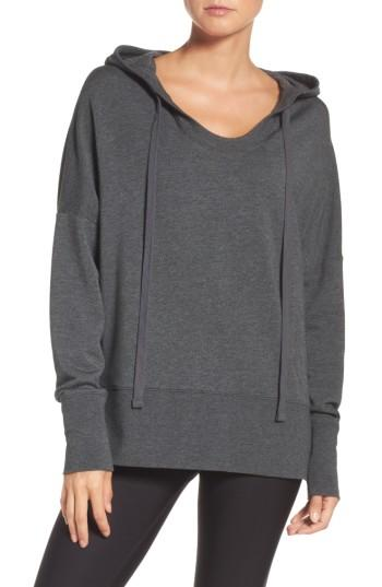 Alo Yoga Fluid Tunic Hoodie In Anthracite Heather