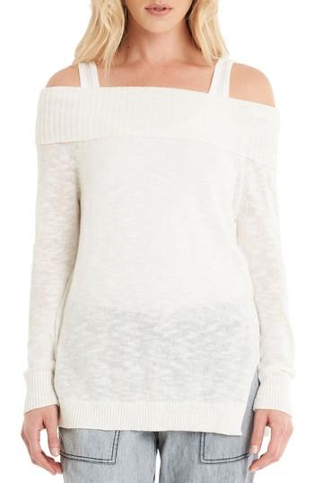 Michael Stars Off The Shoulder Sweater In Chalk