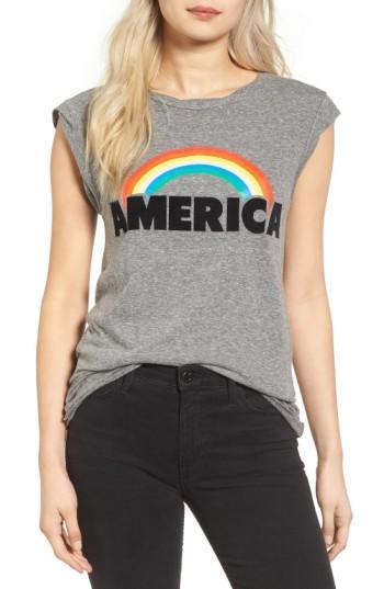 Pam & Gela Frankie America Muscle Tee In Heather Grey