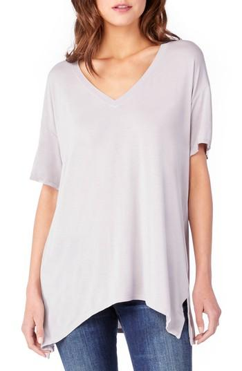 Michael Stars V-neck Tee In Oyster