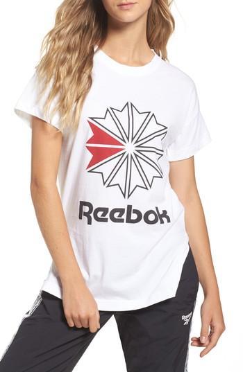 Reebok Graphic Logo Tee In White