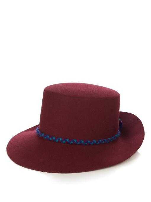 Yosuzi Tanaina Fur-Felt Hat In Burgundy