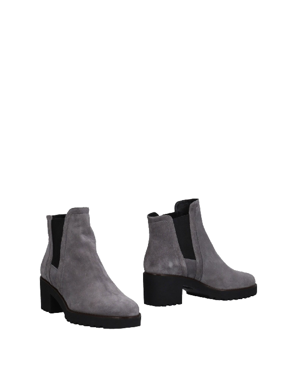 Hogan Suede Leather Boot In Grey