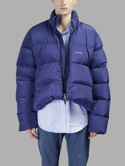 a5d06f95e29c Balenciaga Blue Down C-Shape Jacket