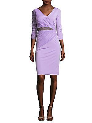 Versace Abito Donna V-Neck Dress In Lilac