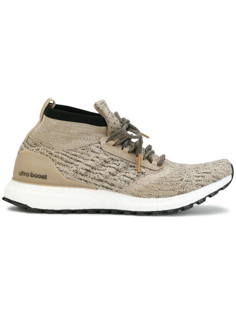 94b261249d766 Adidas Originals Adidas Men s Ultraboost Atr Mid Ltd Running Sneakers From  Finish Line In Brown