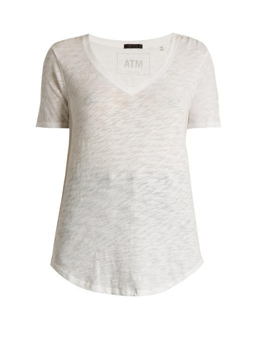 dc58bde72b8 Atm Anthony Thomas Melillo Atm - V Neck Slub Cotton Jersey T Shirt - Womens  -. MATCHESFASHION.COM