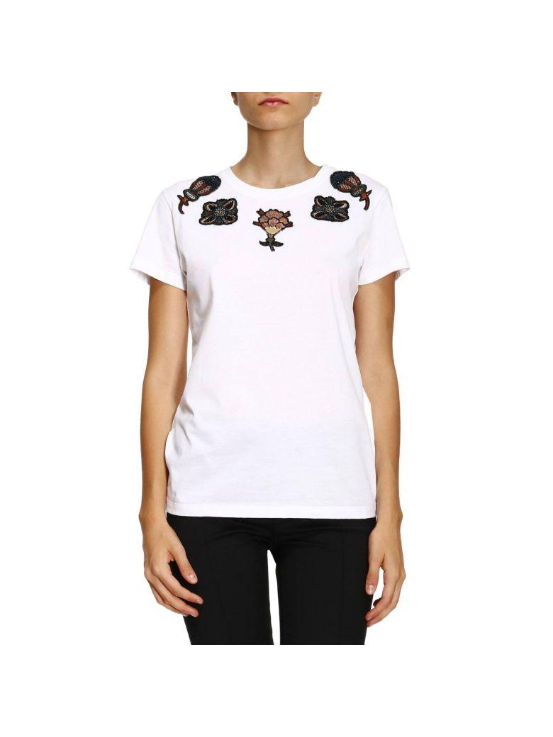Valentino Popflowers AppliquÉ T-Shirt In White
