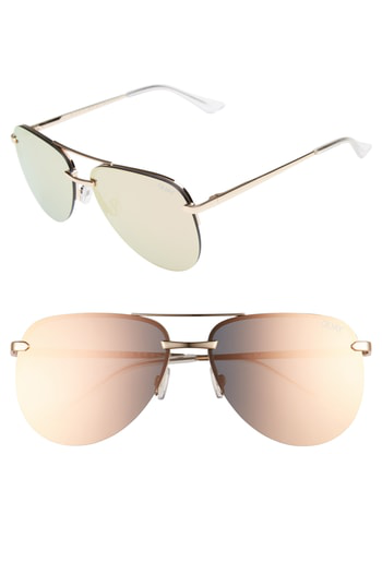 f6bf0fead2db7 Quay Women s The Playa Mirrored Aviator Sunglasses