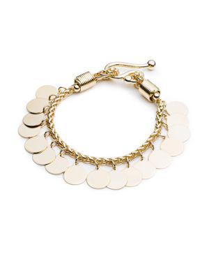 Eddie Borgo Golden Coin Bracelet In Yellow Gold