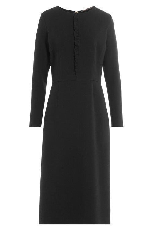 Agnona Wool Dress In Black