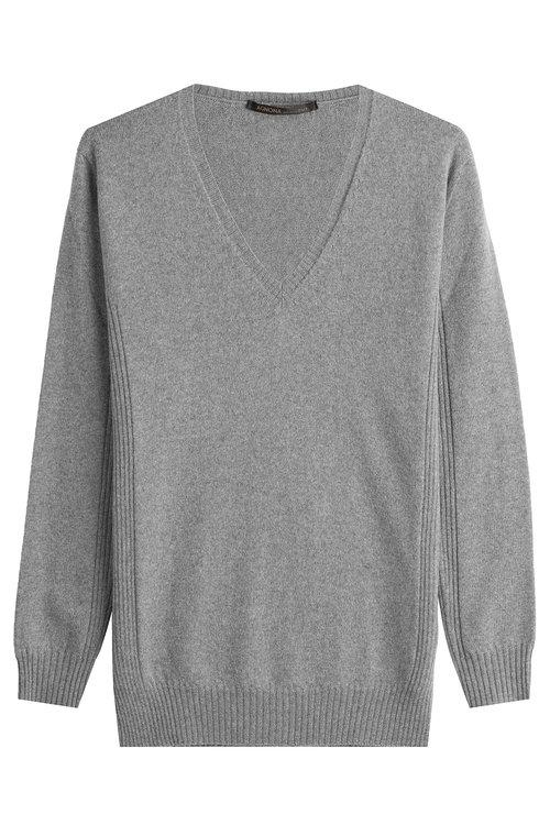 Agnona Wool Pullover In Grey