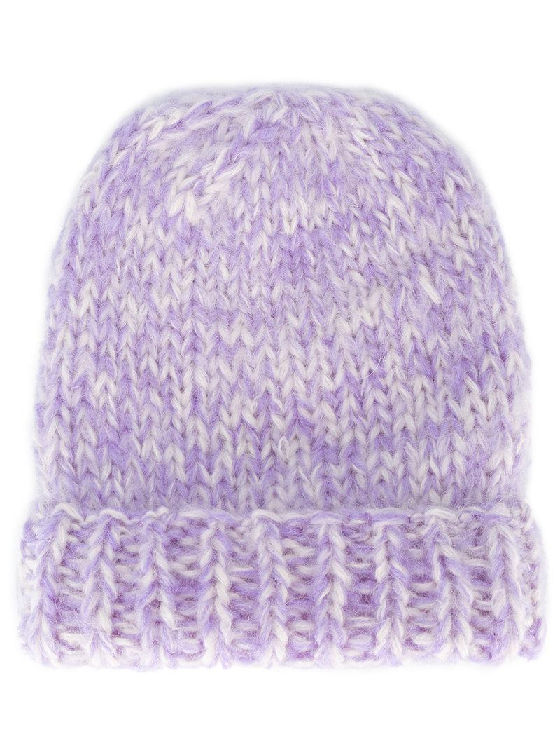 dc512c9c25658 Ganni Julliard Mohair And Wool Hat In Pastel Lilac