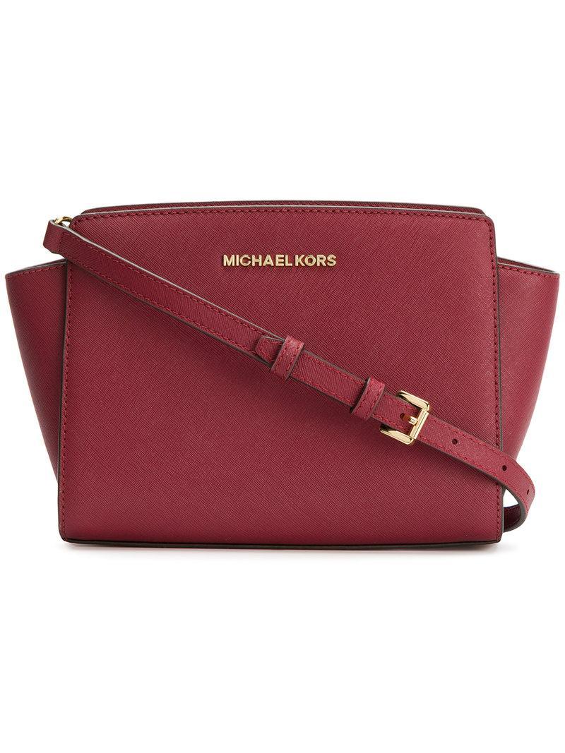 Michael Michael Kors Selma Large Messenger Bag - Red