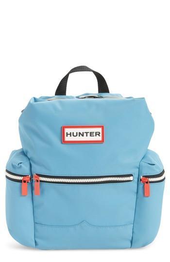 Hunter Original Mini Top Clip Nylon Backpack - Blue In Pale Blue ...