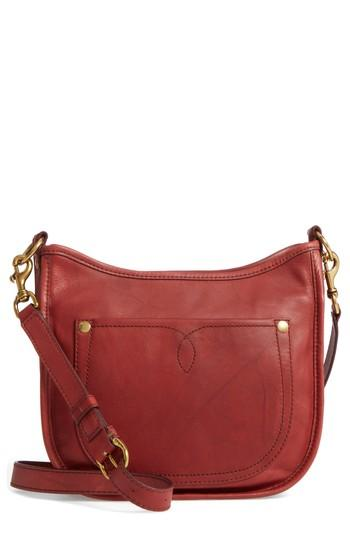 951e323ad Frye Campus Rivet Leather Crossbody Bag - Red In Burnt Red | ModeSens