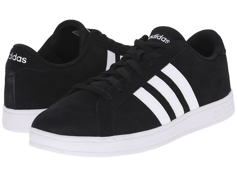 Adidas - Baseline (Black/White/White) Men's Basketball Shoes