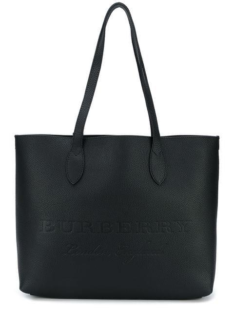 5f2fcc994e4b6 Burberry Remington Large Soft Grain Leather Shoulder Tote Bag In Black