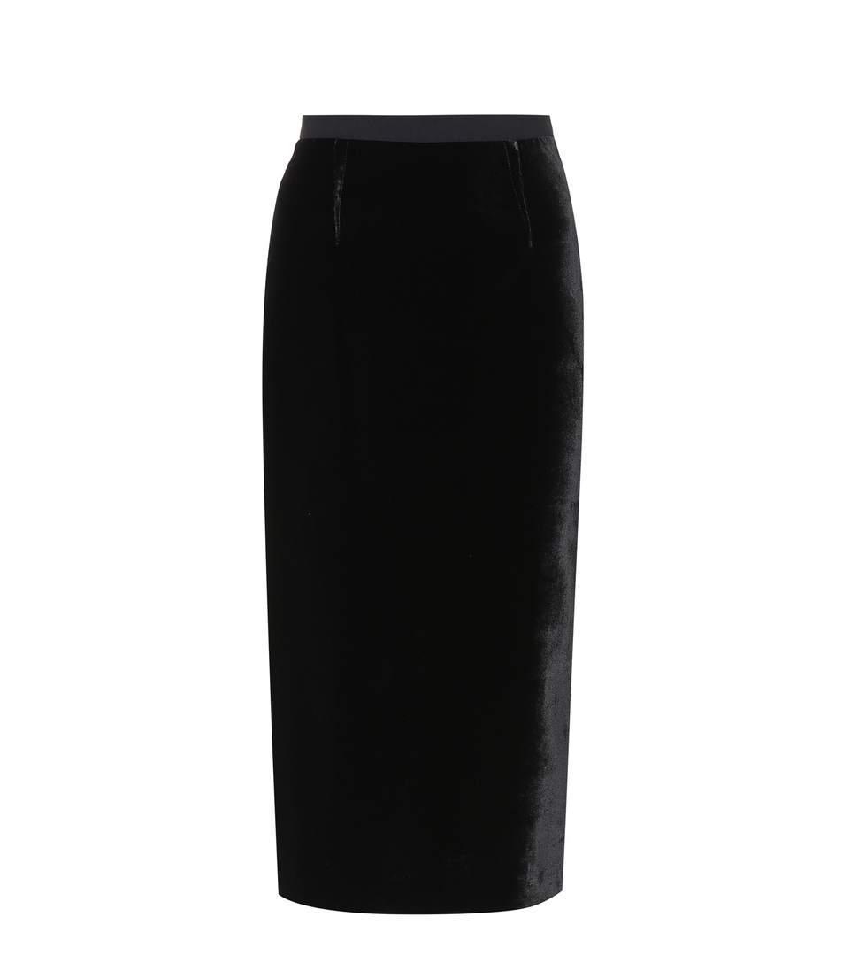 Roland Mouret Arreton Velvet & Stretch Viscose Skirt In Llk