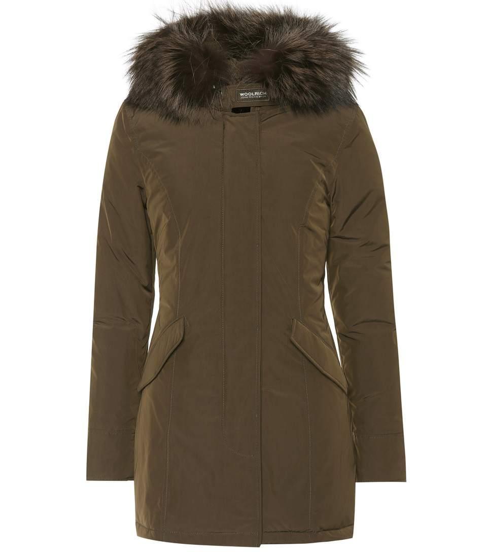 Woolrich Luxury Arctic Down Coat In Dark Greee
