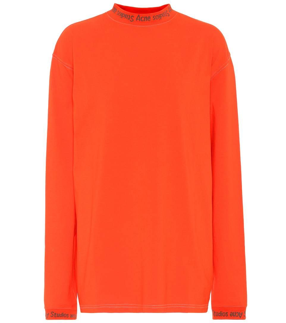 Acne Studios Greta Long-sleeved Cotton Shirt In Rust Red
