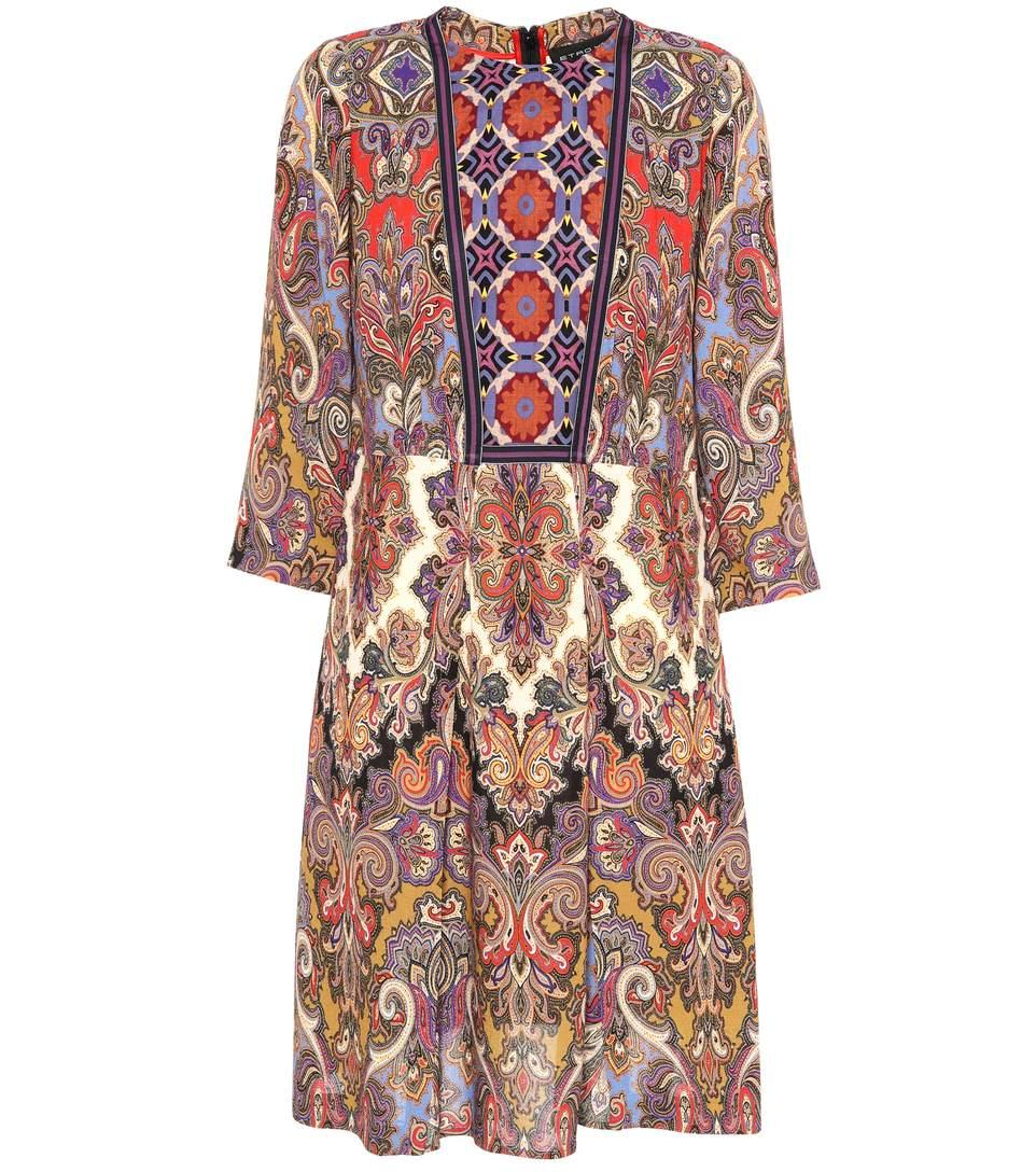 Etro Paisley And Floral-printed Dress In Multicoloured