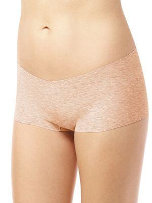 Commando Heathered Low-rise Boyshorts In Heather Red