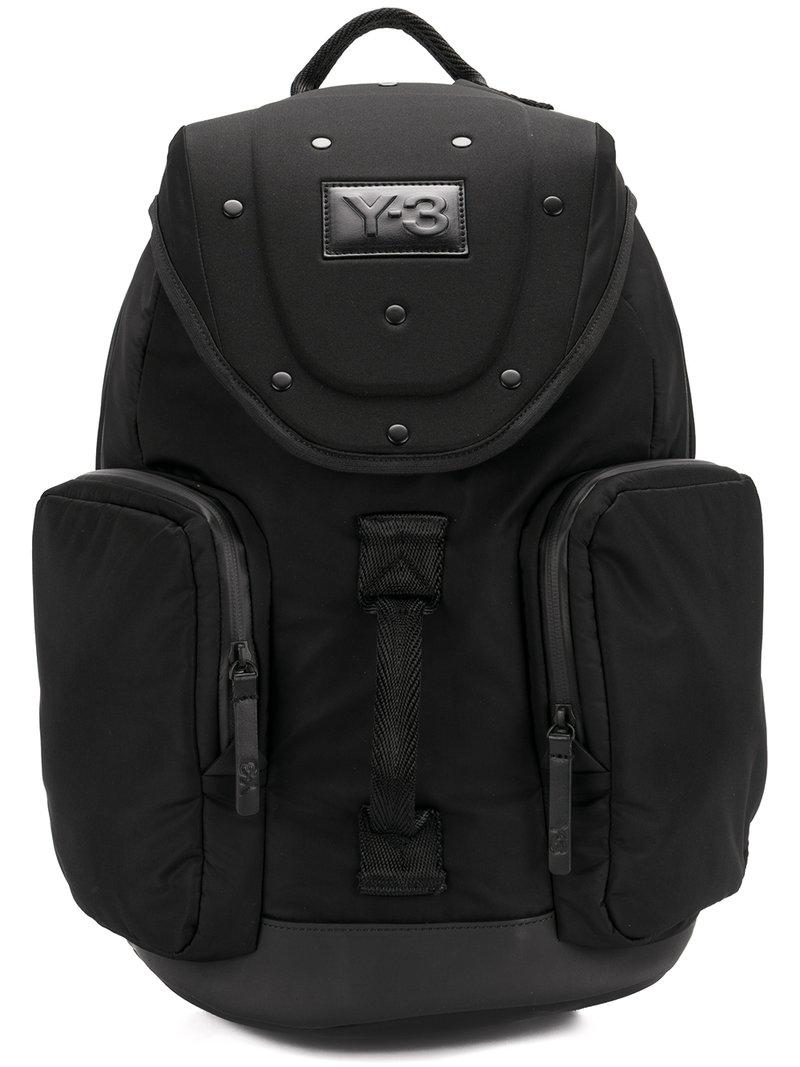 Y-3 'armor' Rigid Textile Backpack In Black