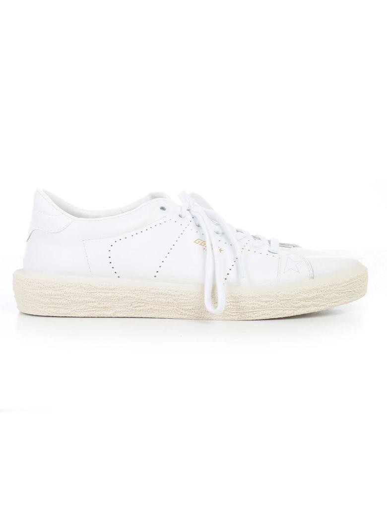 Golden Goose Tennis Sneakers In Awhite Leather