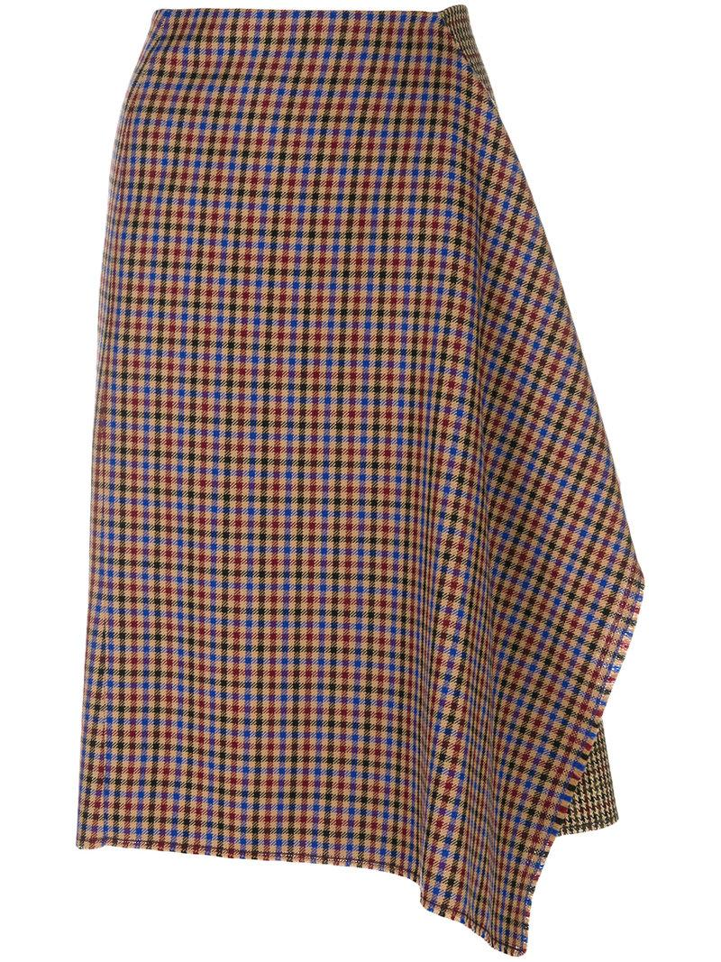 Golden Goose Asymmetric Dogtooth Skirt