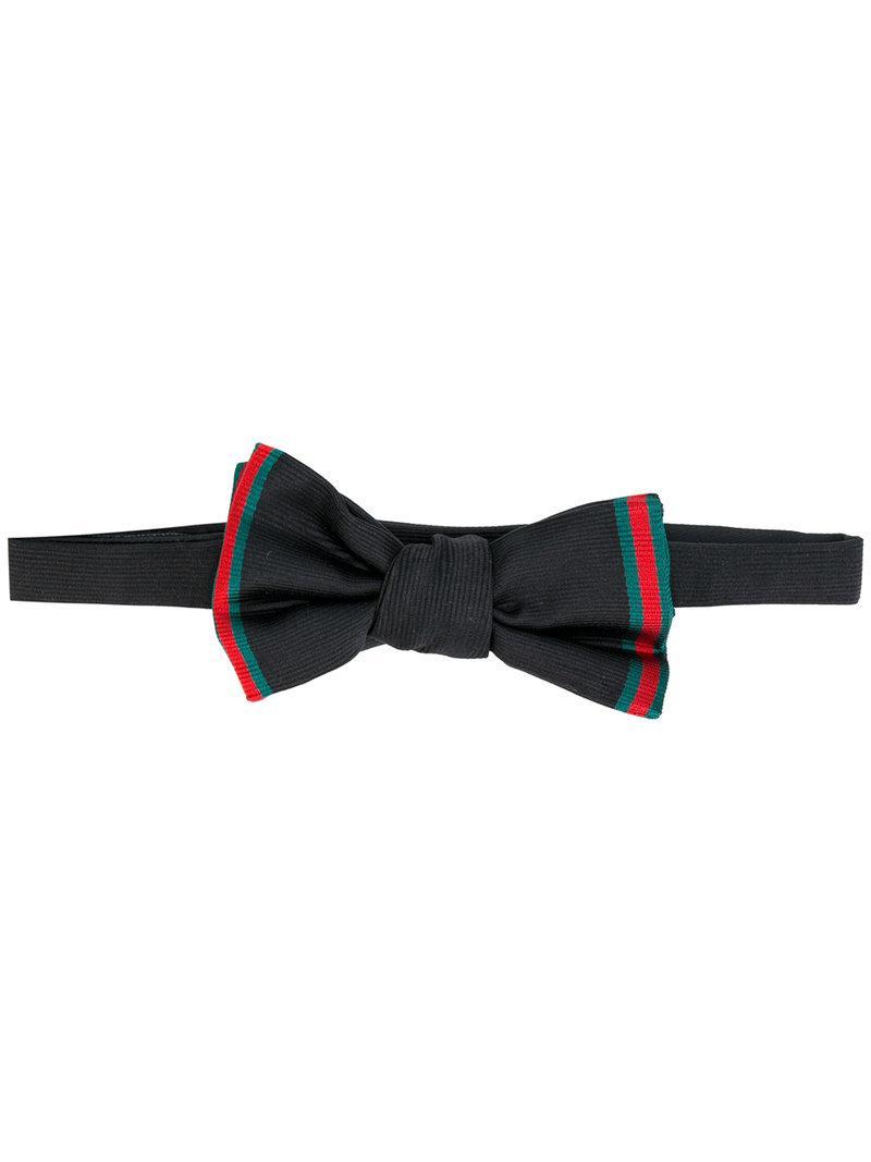 Gucci Faille Bow Tie - Black