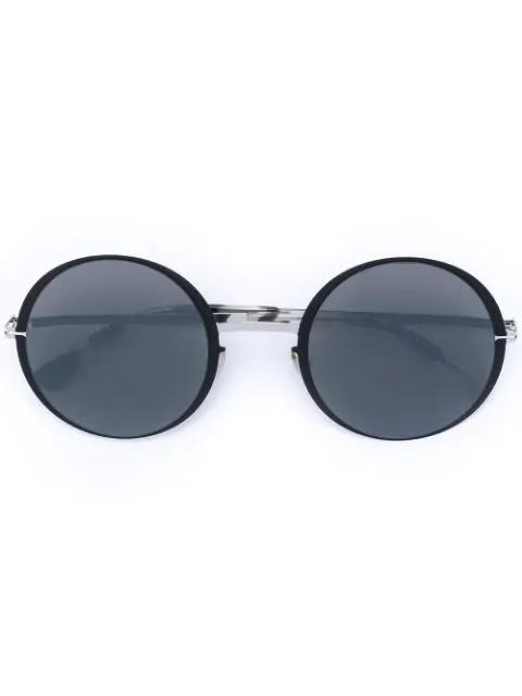 Mykita Round Frame Sunglasses - Black