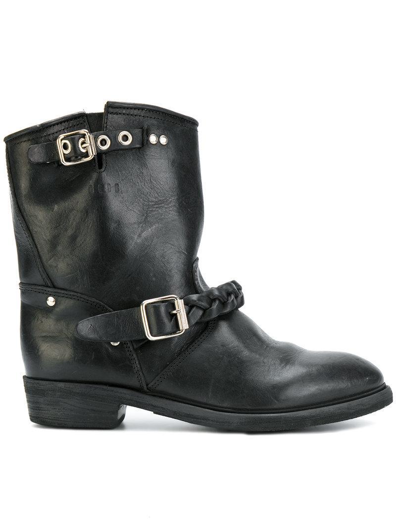 Golden Goose Biker-s Ankle Boots In Black Leather
