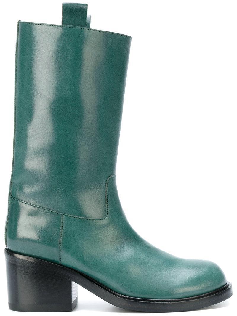 A.f.vandevorst Heeled Boots In Green